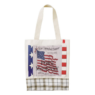 ABH Fort McHenry Zazzle HEART Tote Bag