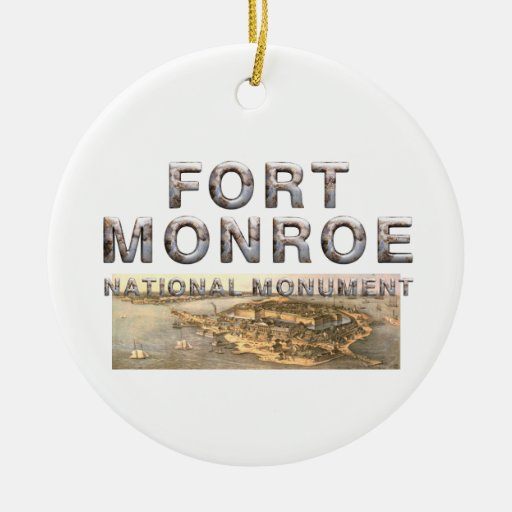 ABH Fort Monroe Double-Sided Ceramic Round Christmas Ornament