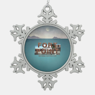 ABH Fort Point Snowflake Pewter Christmas Ornament