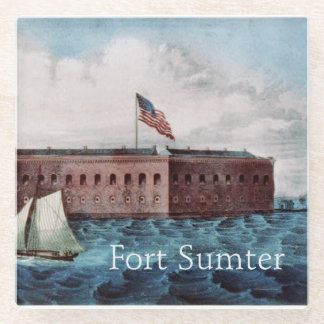 ABH Fort Sumter Glass Coaster