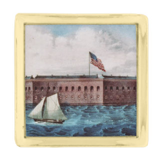 ABH Fort Sumter Gold Finish Lapel Pin