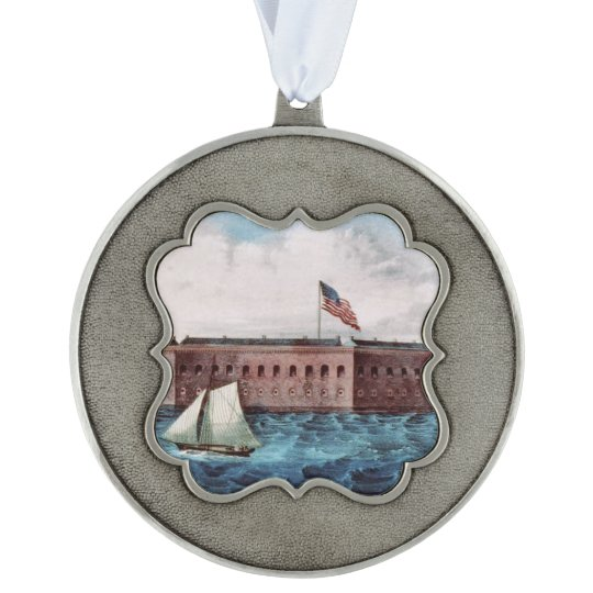 ABH Fort Sumter Pewter Ornament