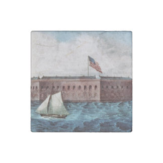 ABH Fort Sumter Stone Magnet
