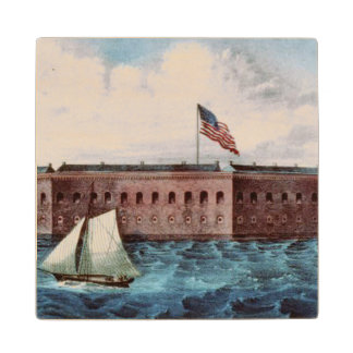 ABH Fort Sumter Wood Coaster