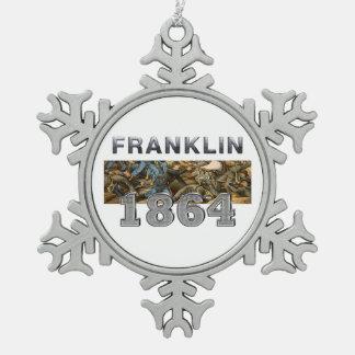 ABH Franklin Snowflake Pewter Christmas Ornament