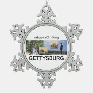 ABH Gettysburg Snowflake Pewter Christmas Ornament