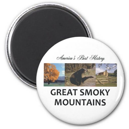 ABH Great Smoky Mountains 2 Inch Round Magnet