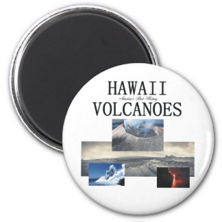 ABH Hawaii Volcano 2 Inch Round Magnet