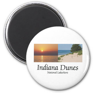 ABH Indiana Dunes 2 Inch Round Magnet