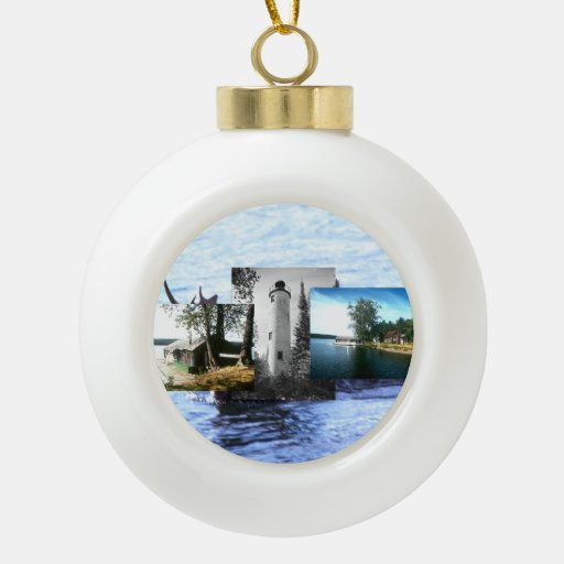 ABH Isle Royale Ceramic Ball Christmas Ornament