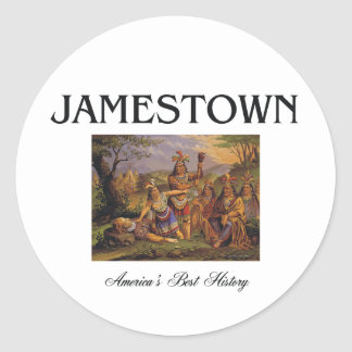 ABH Jamestown Classic Round Sticker