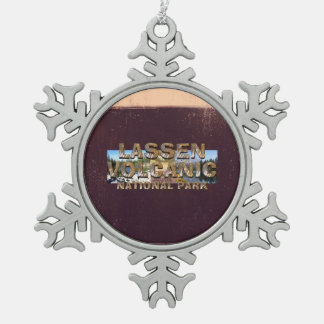 ABH Lassen Volcanic Snowflake Pewter Christmas Ornament