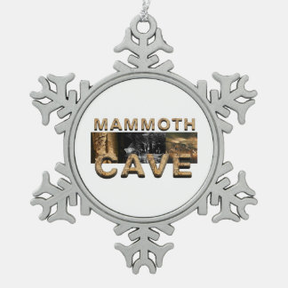 ABH Mammoth Cave Snowflake Pewter Christmas Ornament