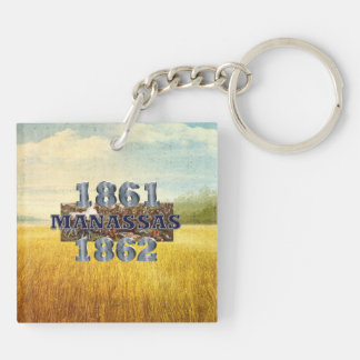 ABH Manassas Double-Sided Square Acrylic Keychain