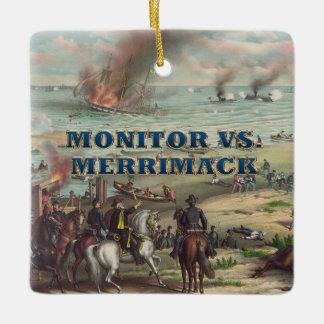 ABH Monitor Merrimack Ceramic Ornament