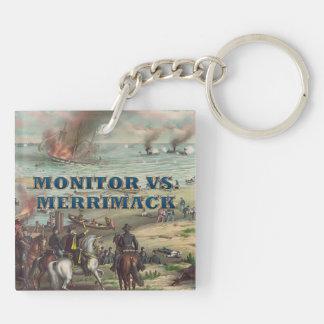 ABH Monitor Merrimack Double-Sided Square Acrylic Keychain
