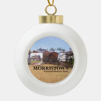 ABH Morristown NHP Ceramic Ball Christmas Ornament