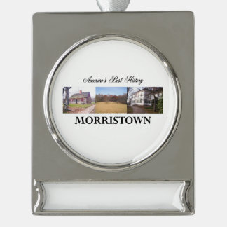 ABH Morristown Silver Plated Banner Ornament