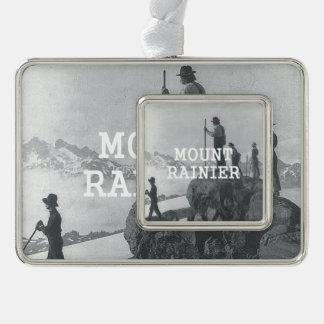 ABH Mount Rainier Silver Plated Framed Ornament