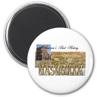 ABH Nashville 2 Inch Round Magnet