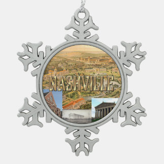 ABH Nashville Snowflake Pewter Christmas Ornament