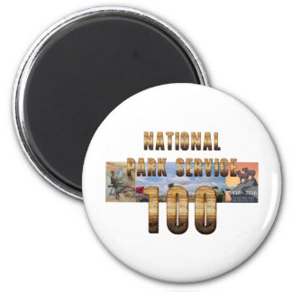 ABH National Park Service 100 2 Inch Round Magnet