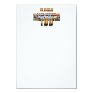 ABH National Park Service 100 5x7 Paper Invitation Card