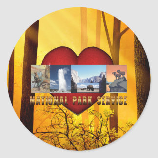 ABH National Parks Love Classic Round Sticker
