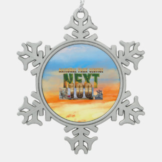 ABH National Parks Next 100 Snowflake Pewter Christmas Ornament