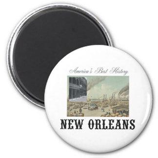 ABH New Orleans 2 Inch Round Magnet