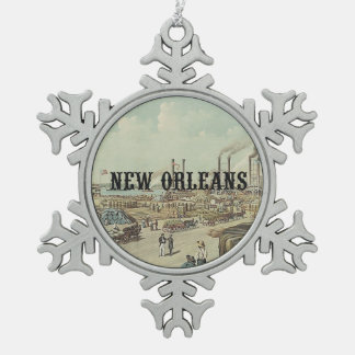 ABH New Orleans Snowflake Pewter Christmas Ornament
