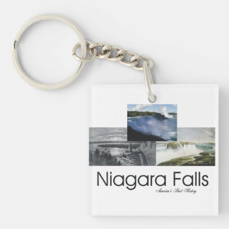 ABH Niagara Falls Double-Sided Square Acrylic Keychain