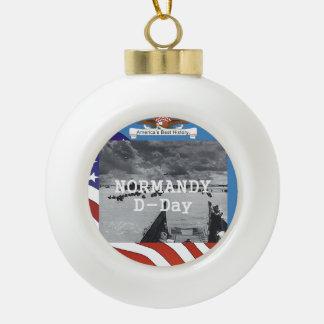 ABH Normandy Ceramic Ball Christmas Ornament