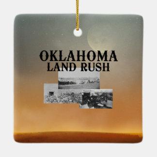 ABH Oklahoma Land Rush Ceramic Ornament