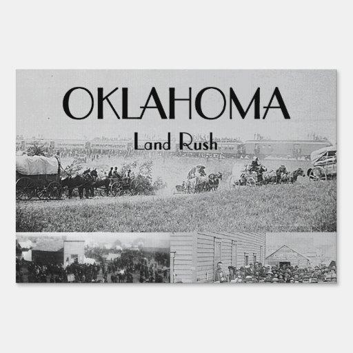 ABH Oklahoma Land Rush Signs