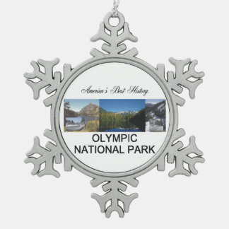 ABH Olympic National Park Snowflake Pewter Christmas Ornament