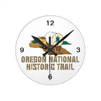 ABH Oregon Trail Round Wall Clocks