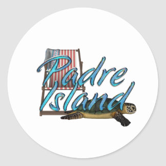 ABH Padre Island Round Stickers