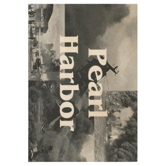 ABH Pearl Harbor Wood Poster