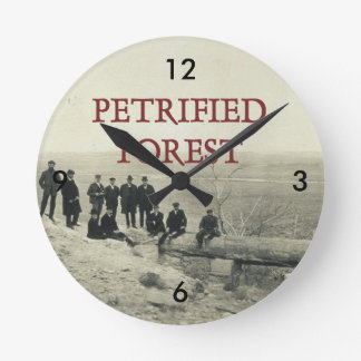 ABH Petrified Forest Round Clock