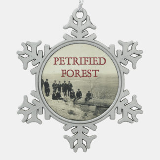 ABH Petrified Forest Snowflake Pewter Christmas Ornament