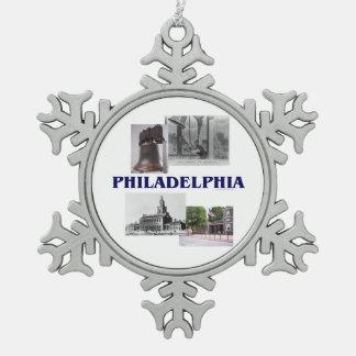 ABH Philadelphia Snowflake Pewter Christmas Ornament