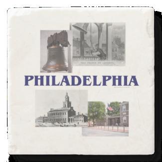ABH Philadelphia Stone Beverage Coaster