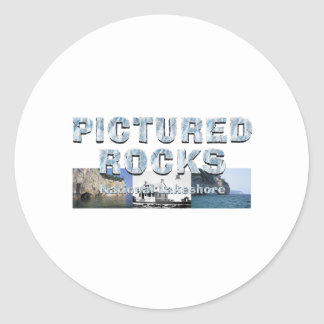 ABH Pictured Rocks Classic Round Sticker