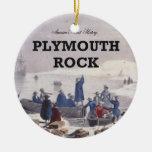ABH Plymouth Rock Adorno Navideño Redondo De Cerámica