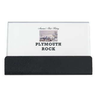 ABH Plymouth Rock Desk Business Card Holder