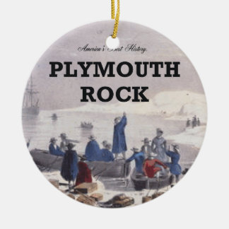 ABH Plymouth Rock Double-Sided Ceramic Round Christmas Ornament
