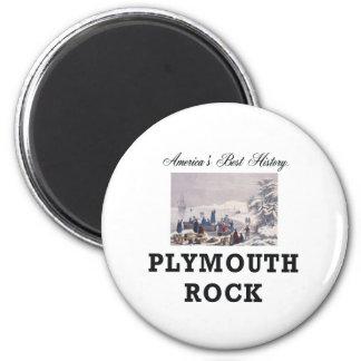 ABH Plymouth Rock Imán Redondo 5 Cm