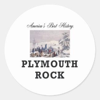 ABH Plymouth Rock Pegatina Redonda