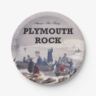 ABH Plymouth Rock Plato De Papel De 7 Pulgadas